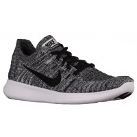 Nike Free RN Flyknit Hommes chaussures de course blanc/noir TDV258