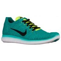 Nike Free RN Flyknit Hommes sneakers vert clair/noir KKY915