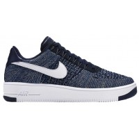 Nike Air Force 1 Ultra Flyknit Low Hommes baskets bleu marin/blanc MKZ121
