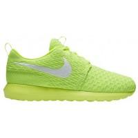 Nike Roshe One Flyknit NM Hommes chaussures vert clair/blanc EZT259