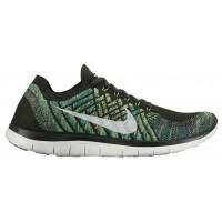 Nike Free 4.0 Flyknit 2015 Hommes sneakers olive verte/blanc DPD482
