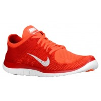 Nike Free 4.0 Flyknit Hommes chaussures de course rouge/Orange BCE447