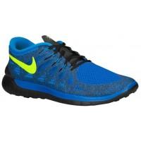 Nike Free 5.0 Hommes chaussures de course bleu/vert clair XMM038