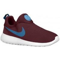 Nike Roshe One Slip On Hommes chaussures de sport bordeaux/bleu clair WBE933