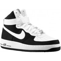 Nike Air Force 1 High 07 Leather Hommes sneakers noir/blanc EKQ793