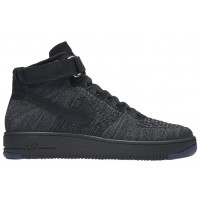 Nike Air Force 1 Ultra Flyknit Mid Hommes sneakers gris/noir GIR976