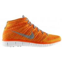 Nike Free Flyknit Chukka Hommes baskets Orange/gris DYC838