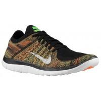 Nike Free 4.0 Flyknit Hommes baskets noir/vert clair XRM096
