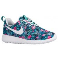 Nike Roshe One Print Hommes chaussures vert clair/rose QXM989