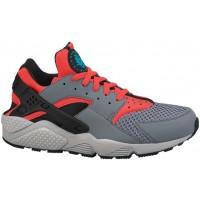 Nike Air Huarache Hommes chaussures de sport gris/rouge AGA558
