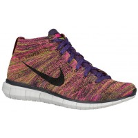 Nike Free Flyknit Chukka Hommes chaussures violet/noir YTD007
