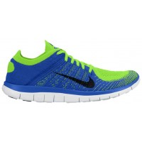 Nike Free 4.0 Flyknit Hommes chaussures bleu/noir DEA720