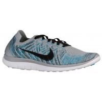 Nike Free 4.0 Flyknit 2015 Hommes chaussures de sport gris/bleu clair HVY150