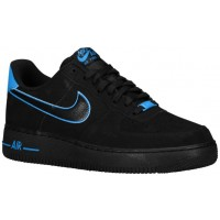 Nike Air Force 1 Low Hommes chaussures de sport noir/bleu clair UIS551
