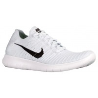 Nike Free RN Flyknit Hommes chaussures blanc/noir QQM954