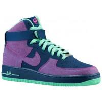 Nike Air Force 1 High NubuckHommes chaussures bleu marin/bordeaux YVR201