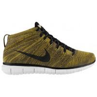 Nike Free Flyknit Chukka Hommes baskets or/noir YGJ145