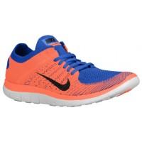 Nike Free 4.0 Flyknit Hommes sneakers bleu/Orange QIU523