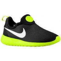Nike Roshe One Slip On Hommes chaussures de sport noir/vert clair YJL594