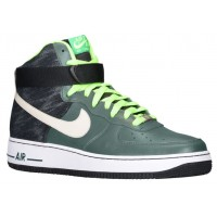 Nike Air Force 1 High Leather Hommes baskets vert/noir SZB047