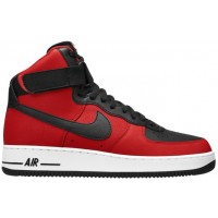 Nike Air Force 1 High 07 Leather Hommes chaussures de sport noir/rouge VNS233