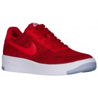 Nike Air Force 1 Ultra Flyknit Low Hommes chaussures rouge/blanc YCB573