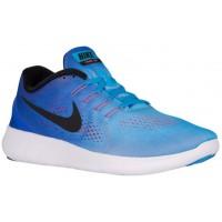 Nike Free RN Hommes sneakers bleu clair/rouge YRD167
