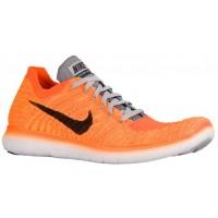 Nike Free RN Flyknit Hommes chaussures de course Orange/noir OVN975