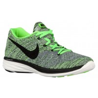 Nike Flyknit Lunar 3 Hommes chaussures gris/vert clair YWG577