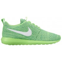 Nike Roshe One Flyknit NM Hommes sneakers vert clair/blanc WSF800