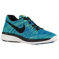 Nike Flyknit Lunar 3 Hommes sneakers bleu clair/vert clair OMY906