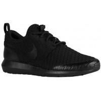 Nike Roshe One Flyknit Hommes chaussures de course Tout noir/noir BCE513