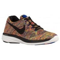 Nike Flyknit Lunar 3 Hommes chaussures de sport bleu/rouge PWX464