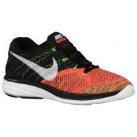 Nike Flyknit Lunar 3 Hommes chaussures de course noir/blanc SEN634