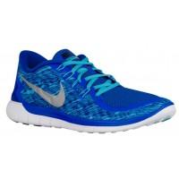 Nike Free 5.0 2015 Print Hommes chaussures bleu/bleu clair HKU632