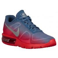Nike Air Max Sequent Hommes chaussures de course rouge/bleu clair BHO243