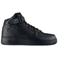 Nike Air Force 1 '07 Mid Femmes baskets Tout noir/noir TKV681