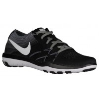 Nike Free TR Focus Flyknit Femmes chaussures noir/blanc EJP393