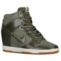 Nike Dunk Sky Hi Femmes chaussures de course olive verte/blanc LAI040