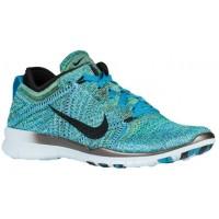 Nike Free TR 5 Flyknit Femmes chaussures bleu clair/vert clair FBT216
