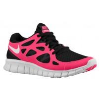 Nike Free Run + 2 Femmes chaussures noir/rose BAD091