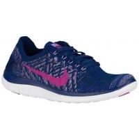 Nike Free 4.0 Flyknit Femmes sneakers bleu marin/rose BDH341