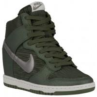 Nike Dunk Sky Hi Femmes baskets vert foncé/vert POR908