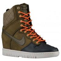 Nike Dunk Sky Hi Sneaker Boot Femmes chaussures de course vert foncé/noir FSY779