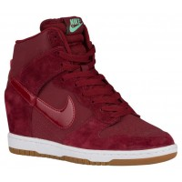 Nike Dunk Sky Hi Femmes chaussures rouge/blanc MVU094