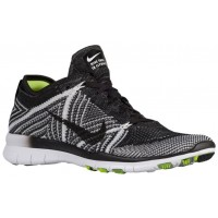 Nike Free TR 5 Flyknit Femmes chaussures de sport noir/blanc KGA473