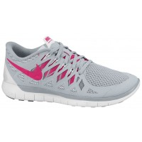Nike Free 5.0 2014 Femmes chaussures de sport gris/rose JAB680