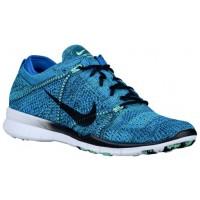 Nike Free TR 5 Flyknit Femmes chaussures de course bleu clair/noir DDE675