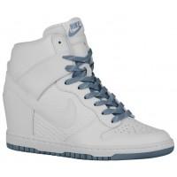 Nike Dunk Sky Hi Femmes chaussures de sport blanc/gris VRD229