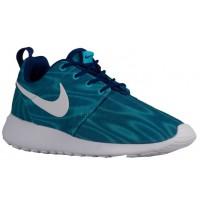 Nike Roshe One Print Premium Femmes chaussures bleu clair/bleu marin DSP190